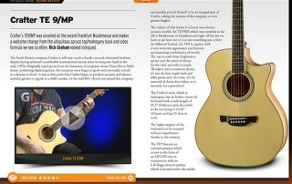 Crafter TE9 MP Review in iGuitar