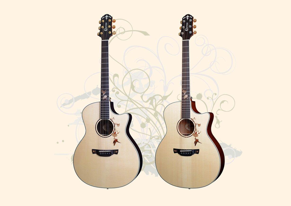 Crafter Twin Bird Anniversary Guitars