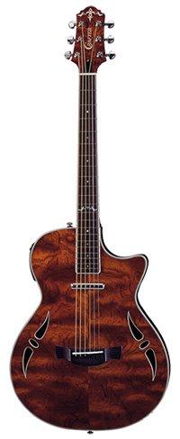 Crafter Slim Arch Hybrid Guitar in Bubinga