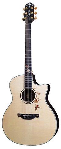 Crafter Twin Bird Guitar in Mahogany