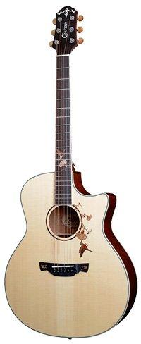 Crafter Twin Bird Guitar in Rosewood
