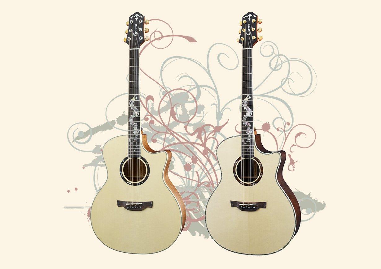 Crafter Dragon Series Guitars