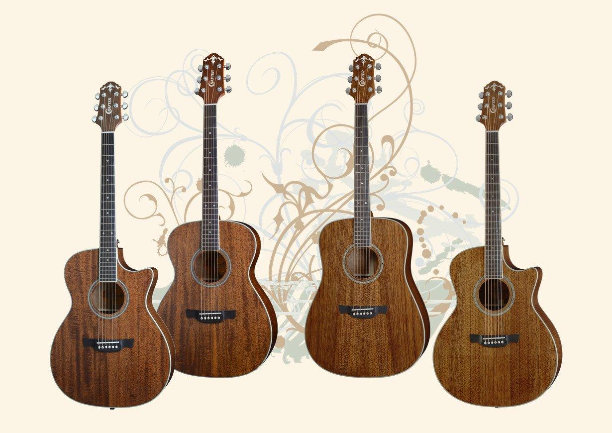Crafter Mahogany Top Series Guitars